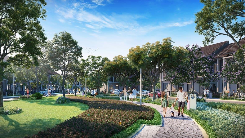 Chủ đầu tư thiết kế công viên nội khu rộng khoảng 2.000m2 dành riêng cho cư dân Topaz Town.